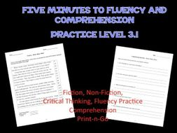 Five Minutes to Fluency and Comprehension: Level 3.1