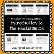 World History Stations Activity - Intro to the Renaissance *Print & Go Prep*