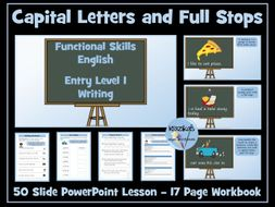 English Functional Skills - Entry Level 1 Writing - Capital Letters and Full Stops