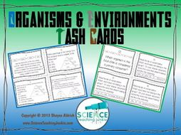 Organisms and Environments Task Cards