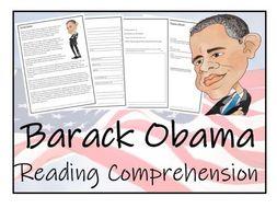 UKS2 History - Barack Obama - Reading Comprehension Activity