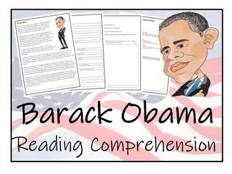 UKS2 History - Barack Obama Reading Comprehension Activity
