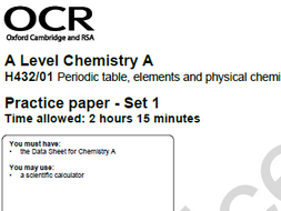 Self assessment activity for ocr a level chem practice paper set 1 self assessment activity for ocr a level chem practice paper set 1 paper urtaz Images