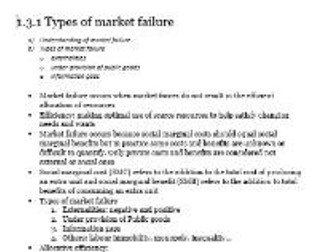 Edexcel Economics AS-level Unit 1.3 Market failure: all the revision notes you need to know