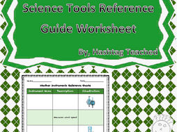 Weather Instruments Reference Guide Worksheet