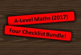 A Level Maths (2017) Full Checklist Bundle