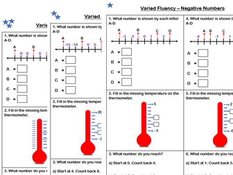 White Rose Maths - Year 4- Place Value - Negative Numbers (Varied Fluency)