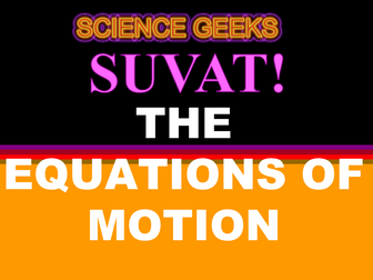 SUVAT - THE EQUATIONS OF MOTION - THE PRESENTATION