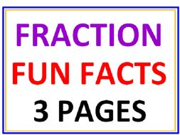 Fraction Fun Facts Questions and Answers