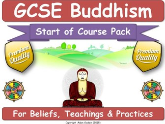 AQA GCSE Buddhism Course Materials (START OF COURSE PACK)