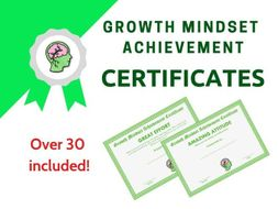 Growth Mindset Achievement Certificates Green Edition