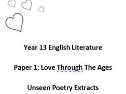 Unseen Poetry Comparison Anthology by misswhiles