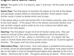 Card Game Rules