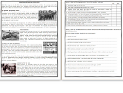 A Brief History Of World War I - Reading Comprehension Worksheet ...