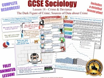 Crime Data, Dark Figure, Sources & Statistics- Crime & Deviance L18/20 [ AQA GCSE Sociology - 8192]