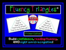 Reading Fluency - Fluency Triangles® for Primer Sight Words