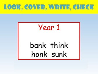 Y1 whole class look cover write check by realllanguages teaching y1 english spelling powerpoint look cover write check n before k words ccuart Choice Image