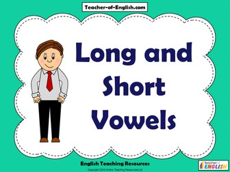 Long and Short Vowels - Year 3/4
