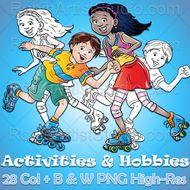 Activities-Hobbies-28-clip-arts-PNG.zip
