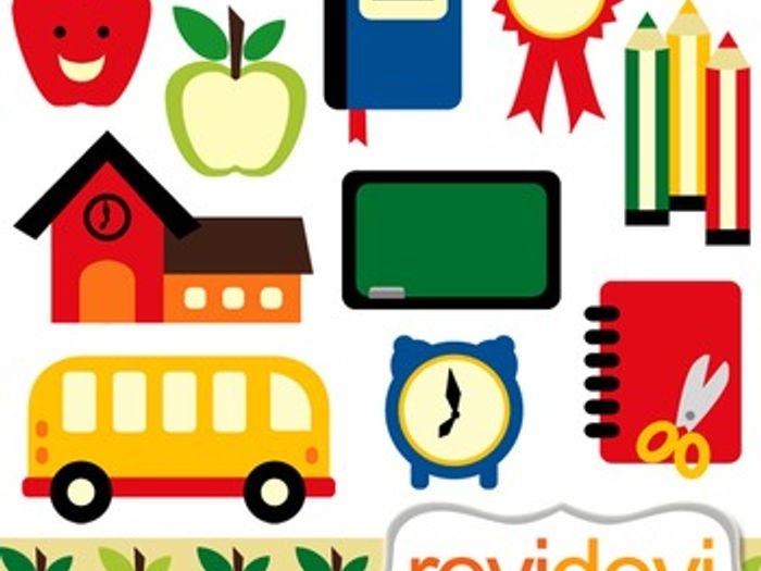 back to school clip art bundle digital graphic clipart school rh tes com