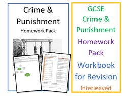 GCSE RS Crime and Punishment Homework Pack - Workbook for Revision