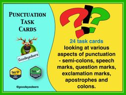 Punctuation Matters - 24 Task Cards