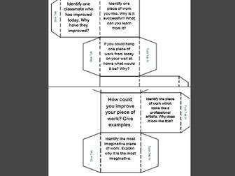 Plenary Dice - Peer/Self Assessment - Starter/Plenary