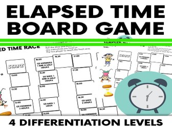 Elapsed Time Problems Board Game
