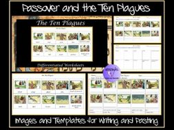 Passover: 'The Ten Plagues' -Work Sheets, Images and Templates