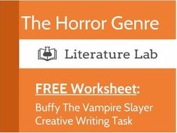 Free Worksheet: Buffy The Vampire Slayer Creative Writing Task