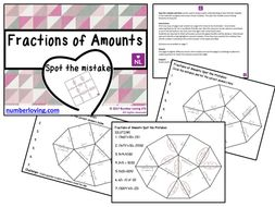 Fractions of Amounts (Spot the mistake worksheet)