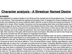 a streetcar named desire character profiles