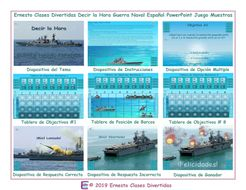 Telling Time Spanish PowerPoint Battleship Game