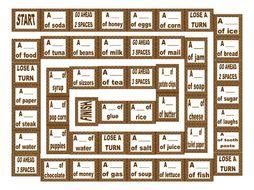 Nouns Noncount Animated Board Game