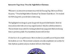 interactive yoga story twas the night before christmas