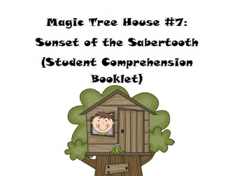 Magic Tree House Book 7: Sunset of the Sabertooth Reading Comprehension Packet