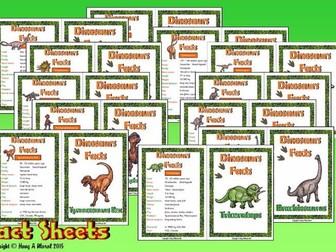 Dinosaurs Fact Sheets