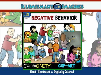Negative and Bad Behavior CommUNITY Clip-Art -40 Pieces BW/Color
