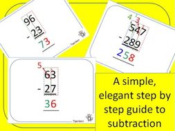 subtraction in columns step by step
