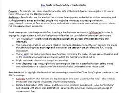 Your Guide to Beach Safety - Detailed Notes for Teachers or Students