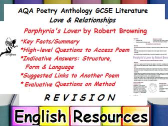 Porphyria's Lover Revision