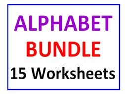 Alphabet Bundle 15 Worksheets