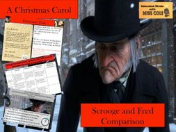 a christmas carol stave 1 scrooge and fred comparison - Fred Christmas