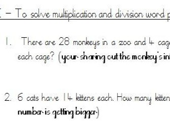 Y3 Multiplication and Division