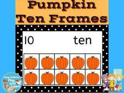 Pumpkin Ten Frames Cards