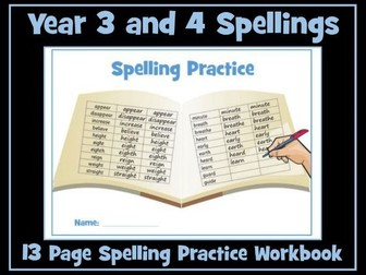 Spellings Worksheets - Year 3 and 4