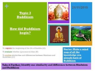 Buddhism topic KS3