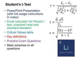 Using Student's t-Test lesson