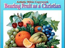 """Bearing Fruit as a Christian (NASB)"" Cursive Penmanship"