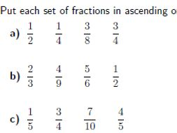 fractions compare and order worksheet with solutions by mathw  fractions compare and order worksheet with solutions by mathw  teaching  resources  tes